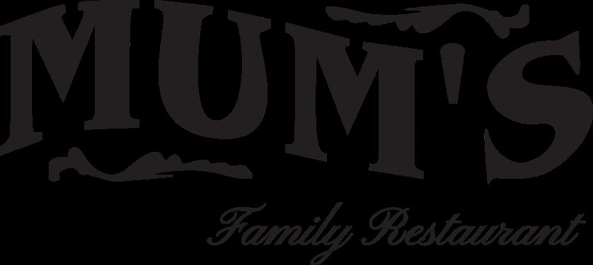 Mums Restaurant logo (BLACK)